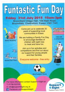 Support 4 Sight Fun Day 31 July