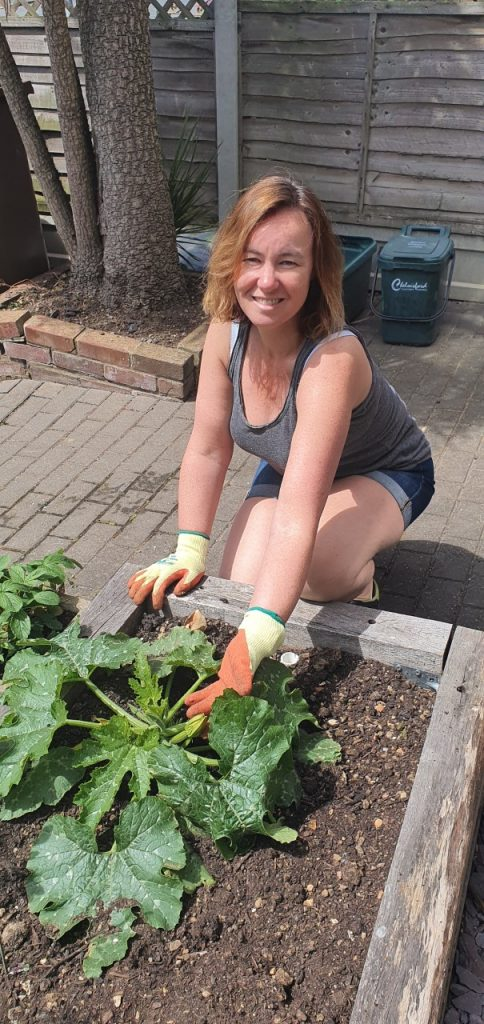 Cllr Marie Goldman Staying at Home and Growing Her own Veg